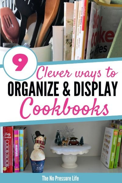 Cook book storage ideas for the kitchen - how to display and organize cookbooks