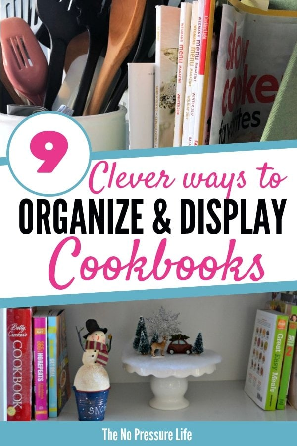 Cookbook storage ideas for the kitchen - how to display cookbooks