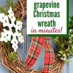 The Easiest Way To Make A Diy Grapevine Christmas Wreath