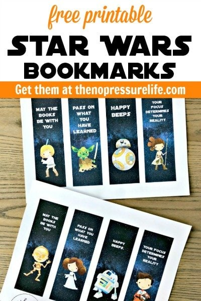 Free printable Star Wars bookmarks