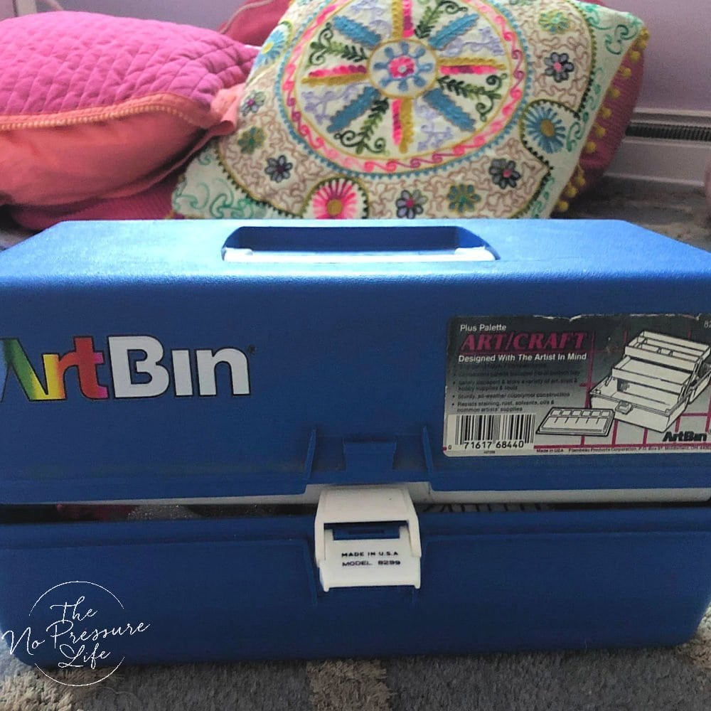 Barbie storage idea - portable carry case for Barbie doll shoes and accessories