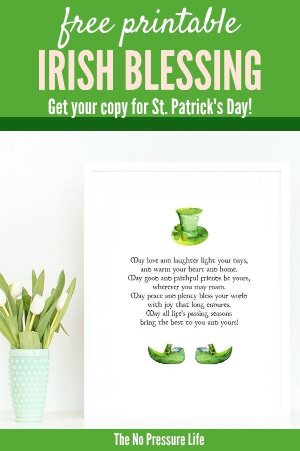 St. Patrick's Day Irish Blessing Free Printable Art