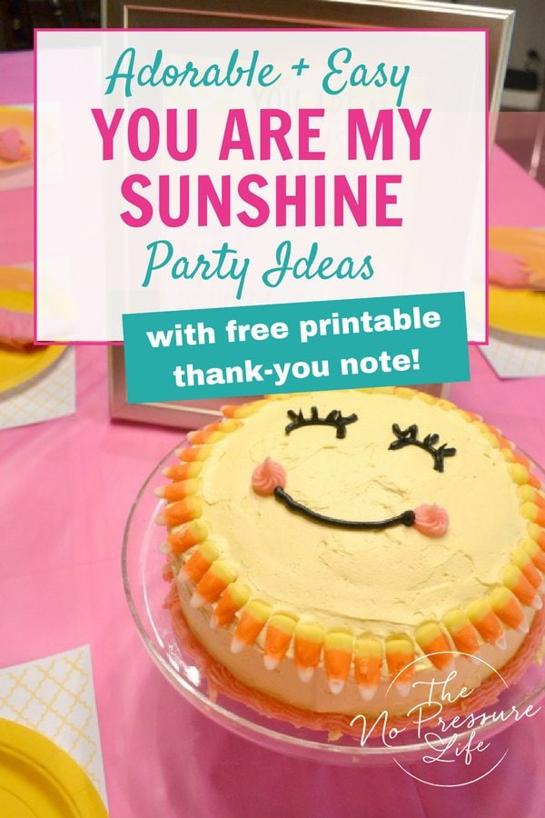 You Are My Sunshine party ideas that are cute and easy
