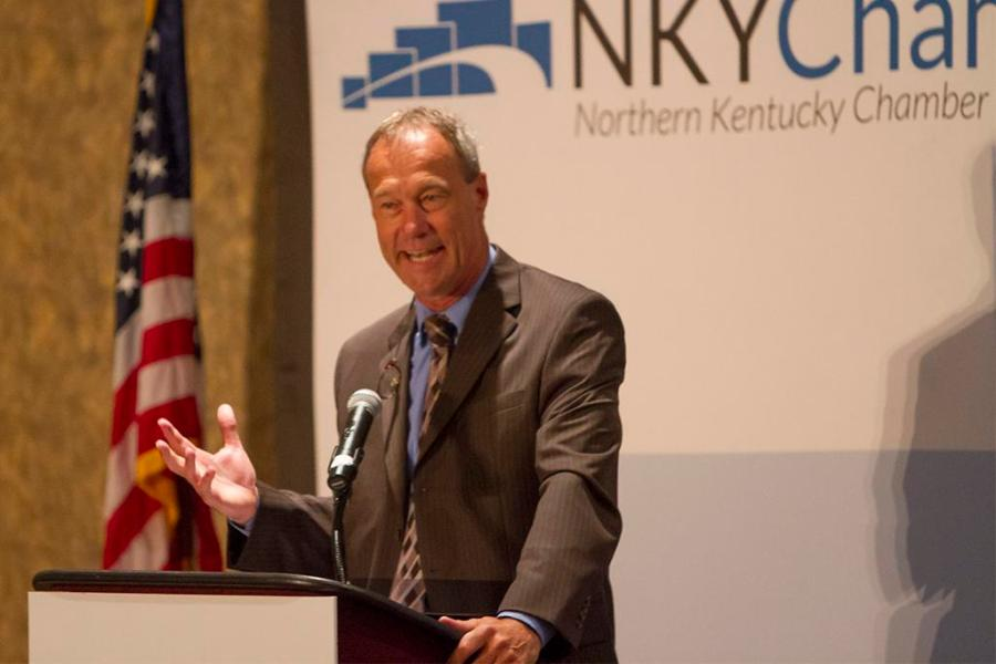 Northern+Kentucky+Chamber+of+Commerce+Eggs+%27N+Issues+breakfast+on+August+13+at+Receptions+Banquet+and+Conference+Center+in+Erlanger%2C+Kentucky+was+a+chance+for+business+owners+from+around+the+area+to+meet+the+new+NKU+Athletic+Director+Ken+Bothof+and+talk+about+his+bold+new+vision+of+NKU+Athletics.+NKU+Athletic+Director+Ken+Bothof+talks+about+his+new+vision+for+NKU+Athletics+and+answers+questions+from+business+owners+about+how+he+sees+the+future+of+Northern+Kentucky+University%27s+athletic+program.