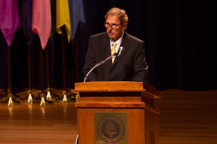 President+Mearns+Fall+2013+Convocation+was+held+in+Greaves+Concert+Hall+on+Friday%2C+August+16%2C+2013+to+talk+about+the+future+of+Northern+Kentucky+University+and+commemorate+the+past+years+success.+NKU+Professor+Alar+Lipping+was+named+the+2013+Frank+Sinton+Milburn+Outstanding+Professor+at+the+Fall+2013+Convocation.