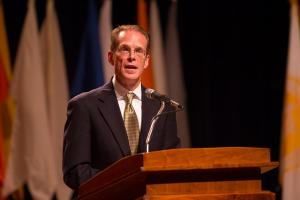 President presents preview of strategic plan at Fall Convocation