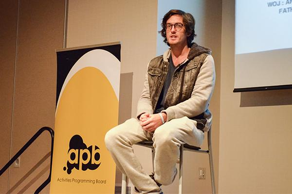 Filmmaker and MTV star Andrew Jenks speaks to NKU students in the Student Union ballroom on Monday November, 11th.