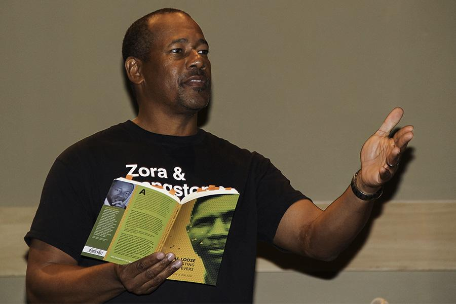 Author Frank X. Walker presented poetry about continuing celebration of the arts on Nov. 6.