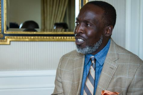 Michael K. Williams at a press event for 'Kill the Messenger'.