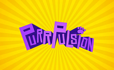 The logo for Purrpulsion, the game that students from the Center for Applied Informatics have created.