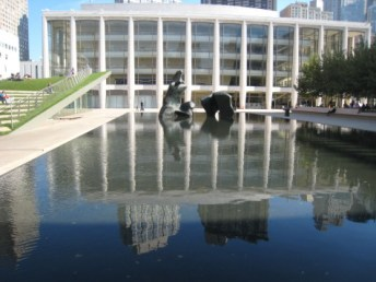Reflection pools outside of the Lincoln Center in New York City. Goode worked at the Lincoln Center during the early stages of her career.