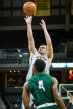 NKU guard Tayler Persons recorded his first collegiate career double-double (16 points and a career-high 11 rebounds) in today's win over Stetson. NKU defeated Stetson 82-57 on Saturday, Feb. 14, 2015 at The Bank of Kentucky Center
