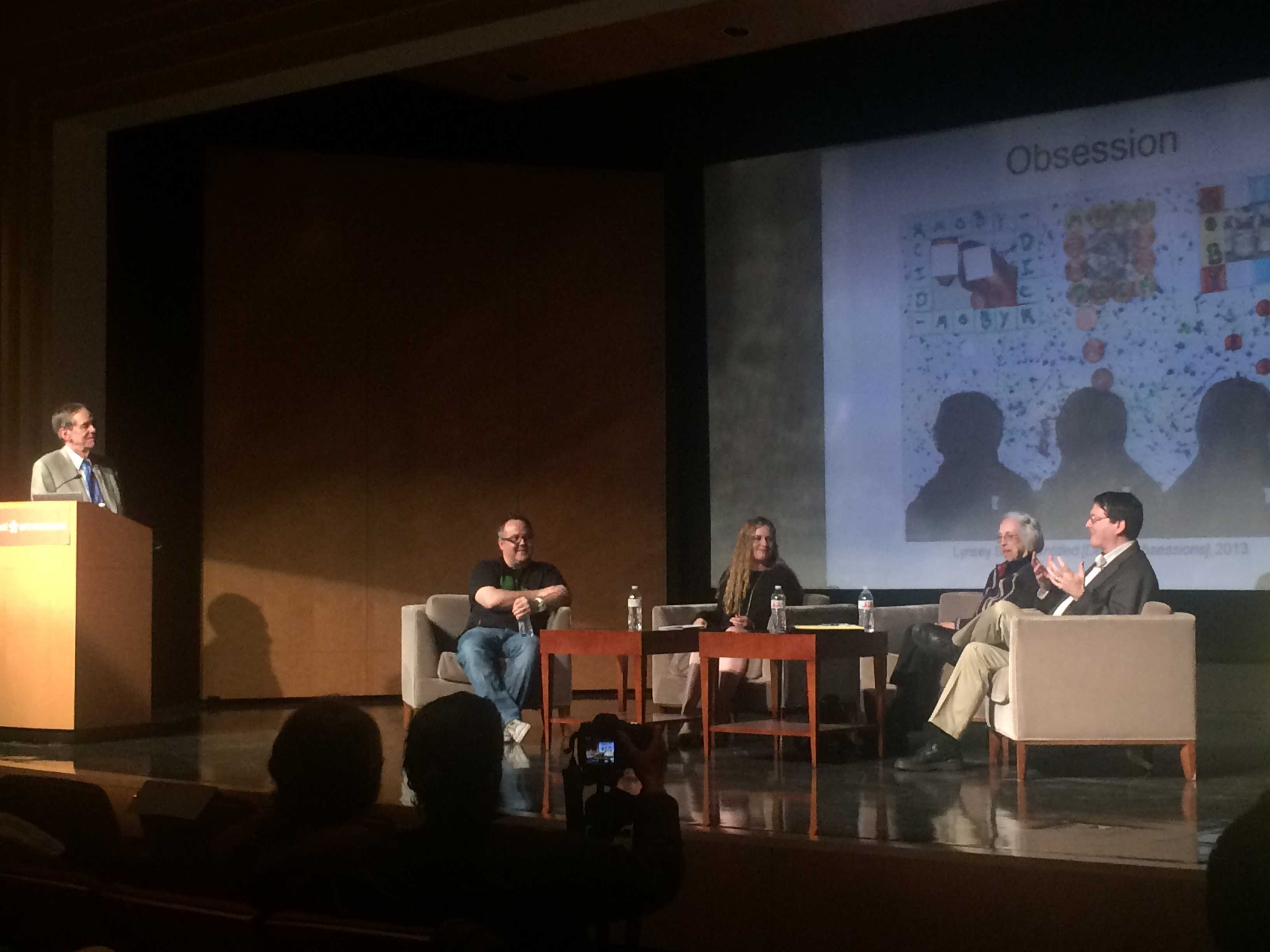 Panelist speak at an event held at the Cincinnati Art Museum on Friday April 24, 2015.