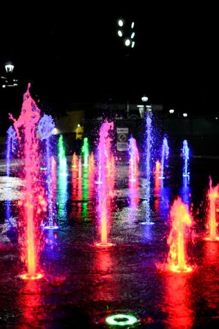 Fountains at Washington Park lit up the festival. MidPoint Music Festival took place in Cincinnati.
