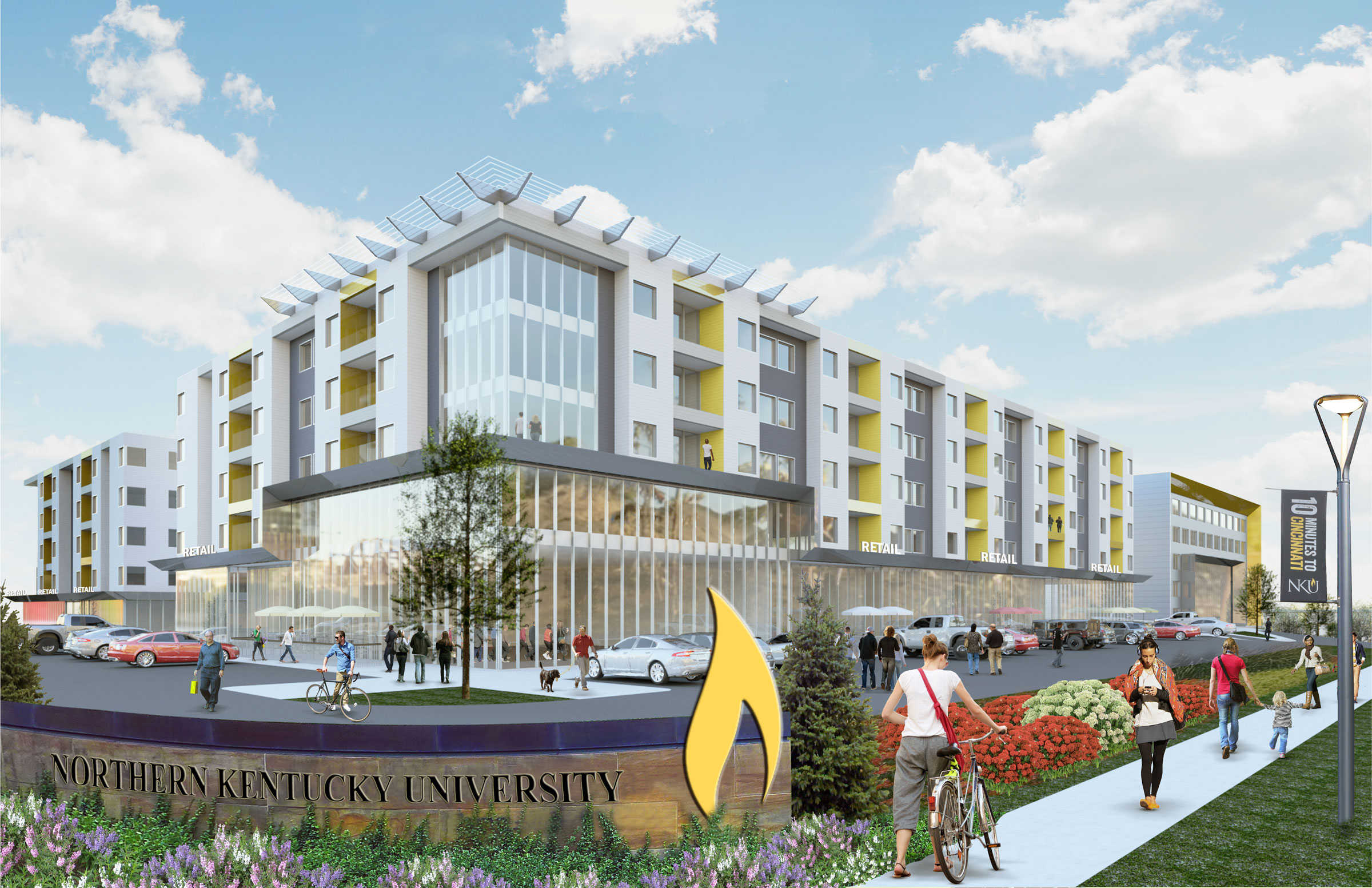 A 12-acre mixed-use project that will include additional on-campus housing is in the beginning phases of planning. The plan is still far-off, but the university hopes that it will connect the campus with the surrounding community.