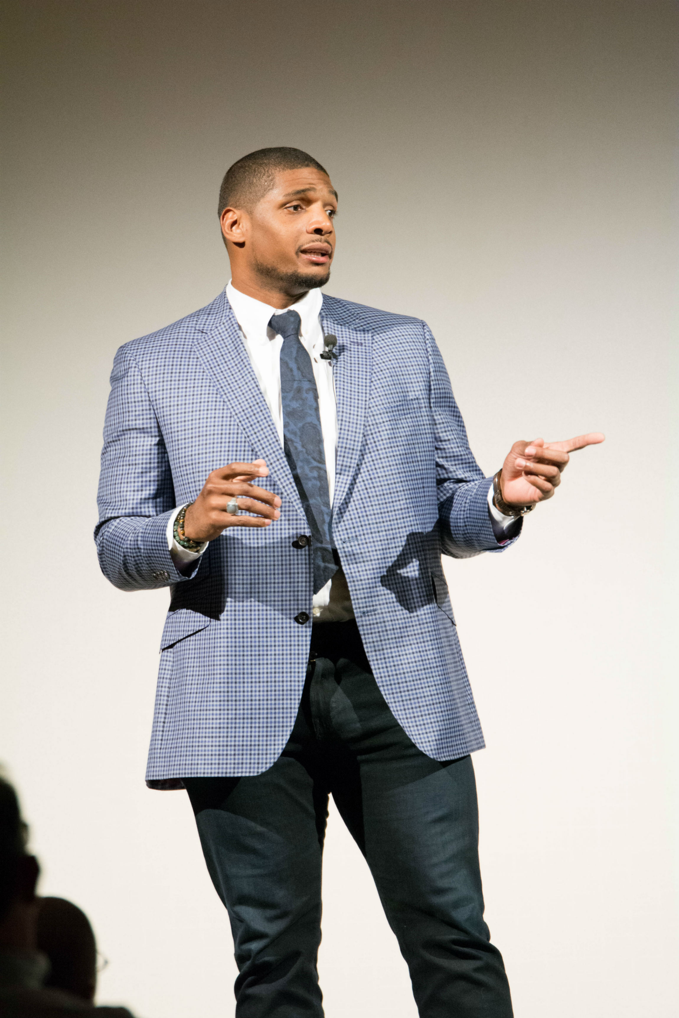 LGBTQ History Month kicks off with keynote speaker Michael Sam, the first openly gay man drafted into the NFL and any major American sport.