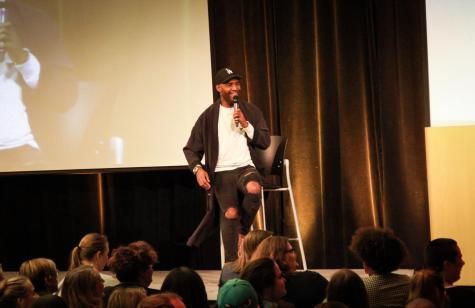 Former NFL player Michael Sam speaks at NKU LGBTQ History Month event