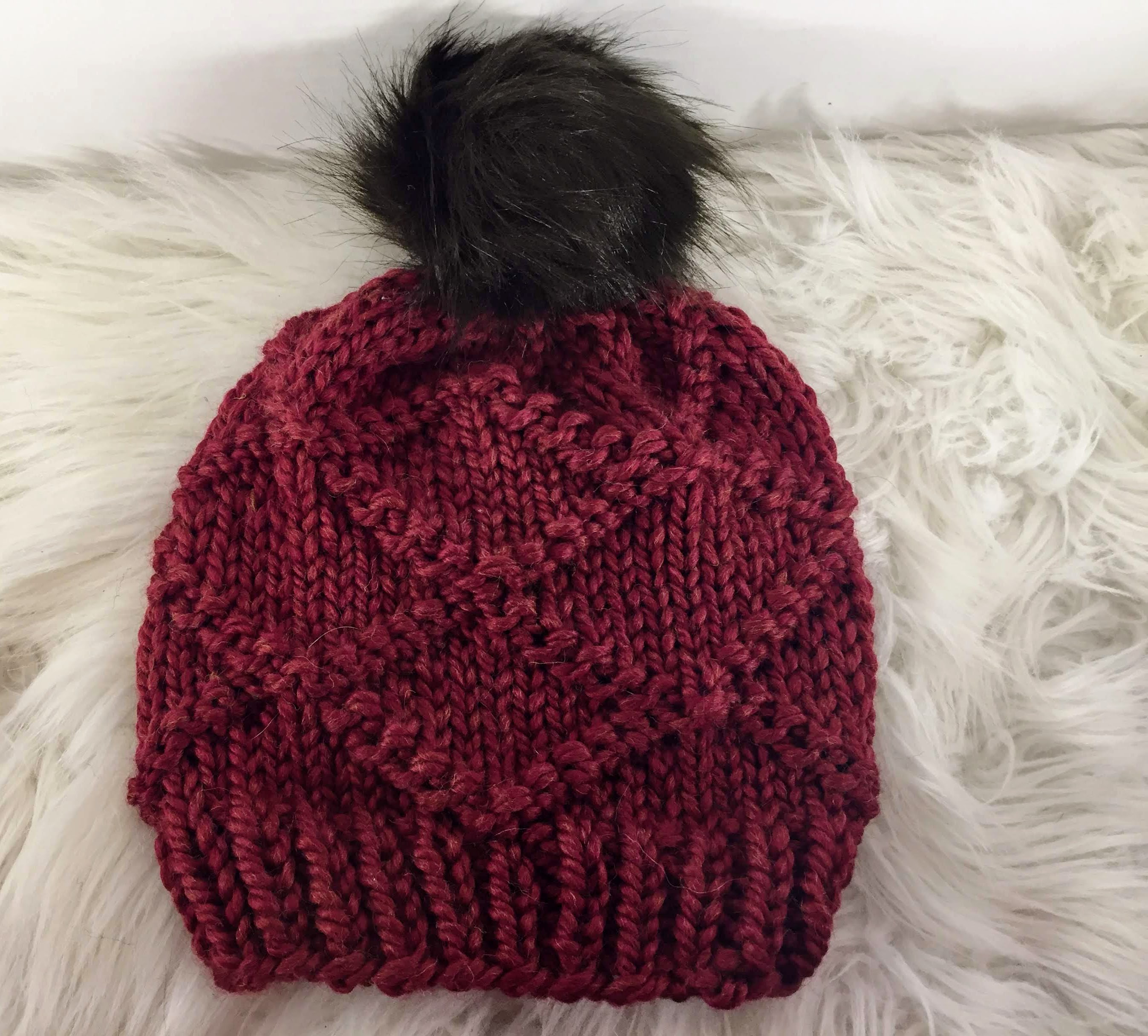 The Diamond Knit Hat