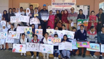 Students paint to promote message of 'BetiBachao BetiPadhao