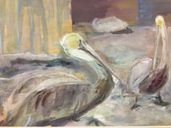 A painting done by Brighton Heights artist Ann Heckel.