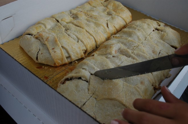 Priory Fine Pastries donated traditional apple strudel.