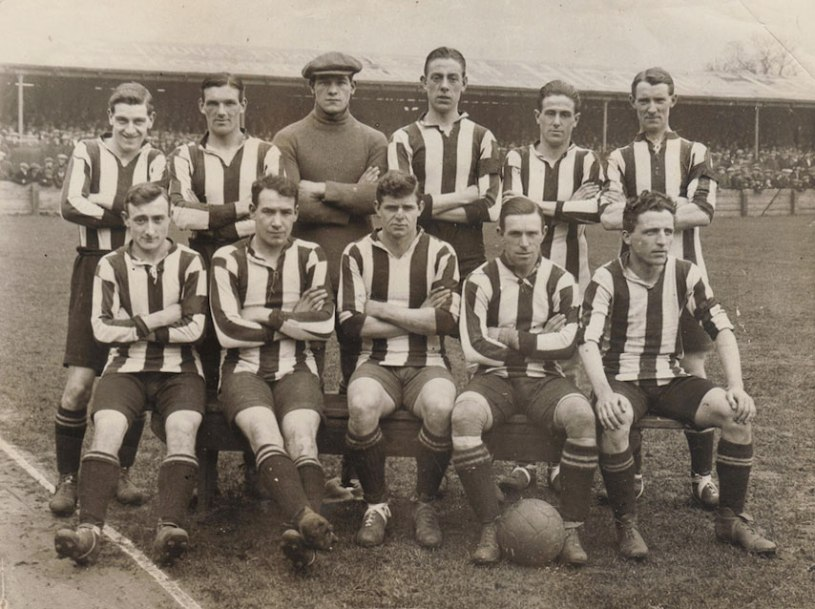 Derby County FC v Bury FC away fixture at Gigg Lane, Bury March 1923