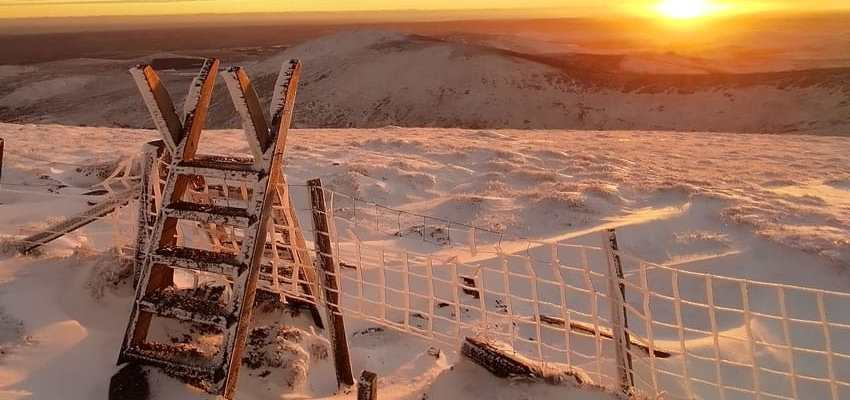 Christmas Day sunrise On Cheviot