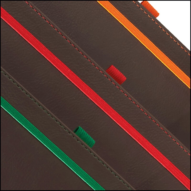 Corporate Branded Notebooks - Phoenix by The Notebook Warehouse. Contrasting elastic straps, stitching and pen loops