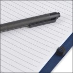 Photo showing Recycled Pen & Pen Loop on the Intimo Recycled Branded Notebook from The Notebook Warehouse