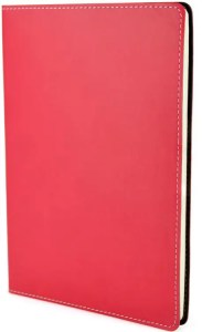 Image of Stitch Edge Flexible Branded Notebooks with Red Cover, from The Notebook Warehouse