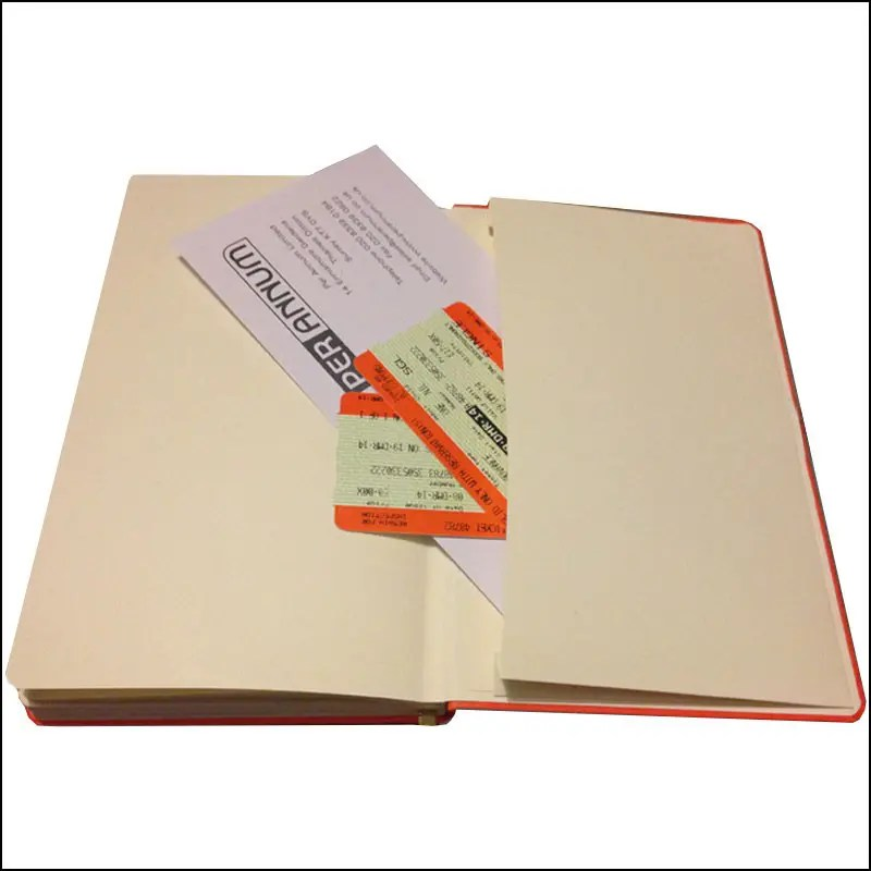 Image showing the Envelope Pocket of the FLXA5 Flexible Branded Notebooks, from The Notebook Warehouse
