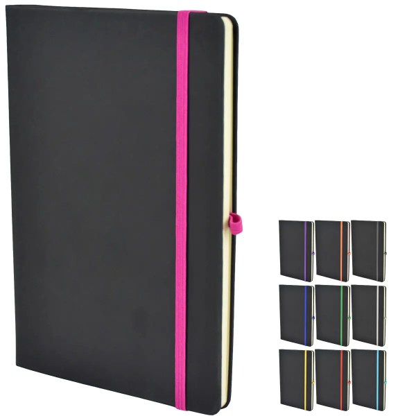 Bowland Promotional Notebooks from The Notebook Warehouse available in 10 Colours.