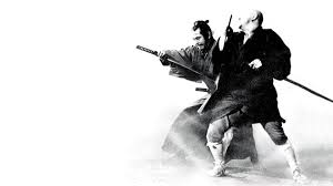 Toshiro Mifune as Sanjuro and Shintaro Katsu as Zatoichi the Blind Swordsman, my two absolute favorites and major influences for my Sword and Silk series.