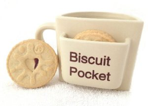Secret Santa Gift Biscuit Mug