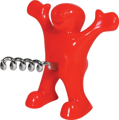 Happy man novelty corkscrew