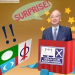 "Najib popping out of an election box, yelling, ""Surprise!"""