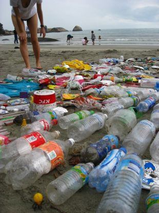 Rubbish found on the beach in Kuantan (Pic by Carolyn Lau and Ng Sek San)