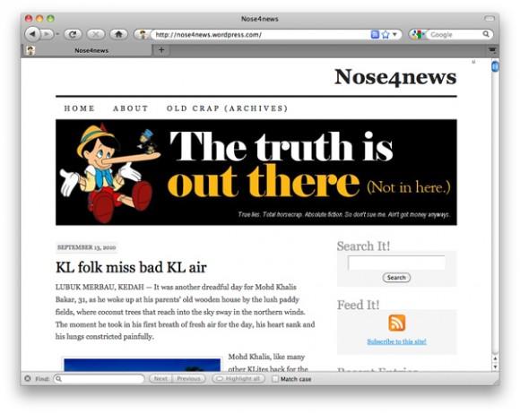 Screencap of Nose4News