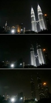 The Petronas Twin Towers taking part in Earth Hour 2009 (© Lai Seng Sin   Wiki Commons)