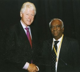 With Bill Clinton in Kuala Lumpur in 2008 when the former US president visited to deliver the inaugural BC Sekhar memorial lecture in December that year