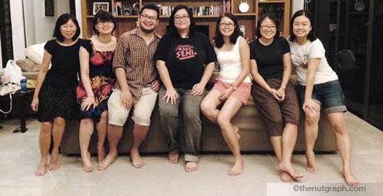The TNG team in July 2014 (from left): Cindy Tham, Gan Pei Ling, Nick Choo, Lainie Yeoh, Jacqueline Ann Surin, Deborah Loh and Ding Jo-Ann