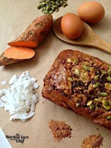 Gluten Free Sweet Potato, Coconut and Chai Loaf
