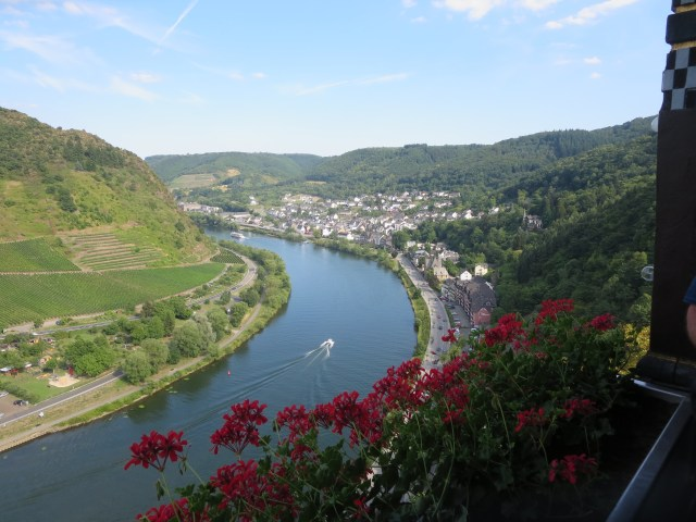 Wonderful views of the Mosel river and Cochem from the Castle.