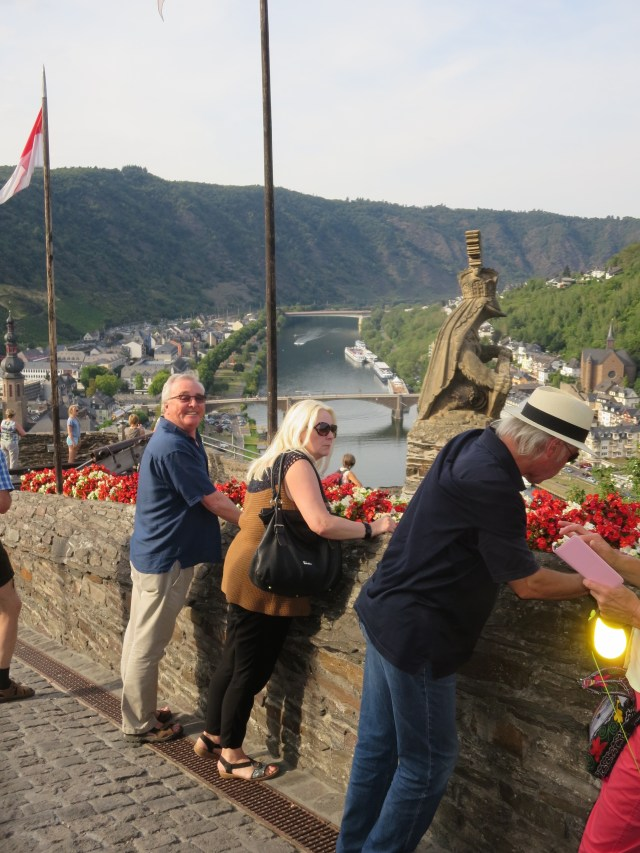 With our friends August and Sybille overlooking the Mosel.