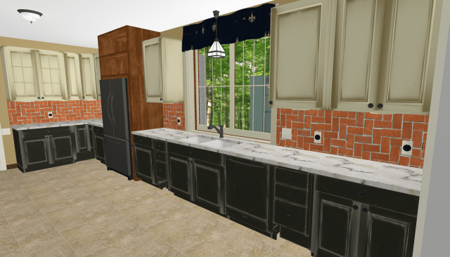 New kitchen design looking toward Entry.