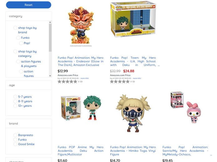 Toys R Us Current Website (Amazon)