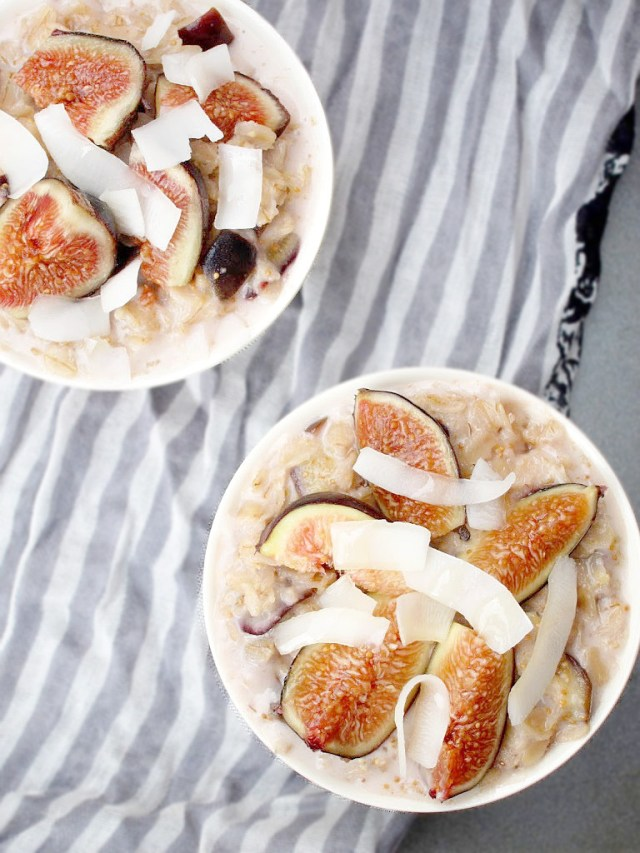 Coconut, Honey, and Fig Oatmeal #oatmealartist #vegan