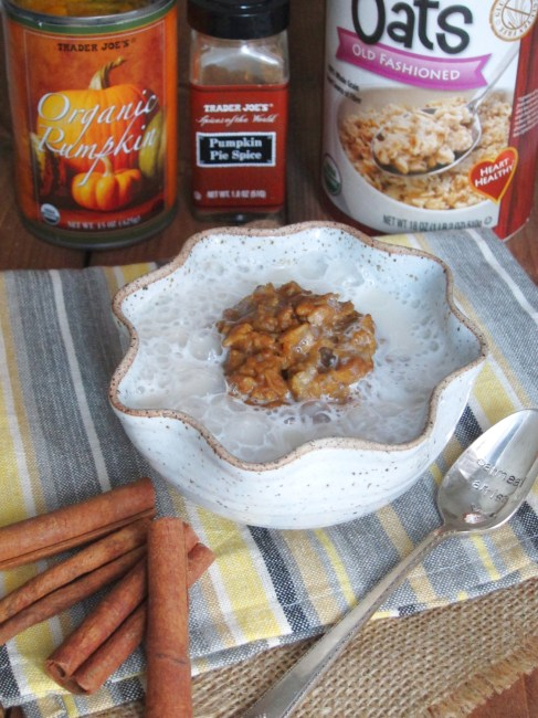 pumpkin spice latte oatmeal (2)