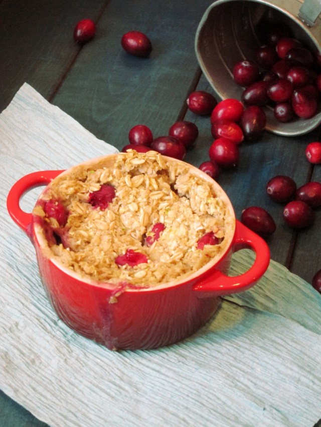 White Chocolate Cranberry Baked Oatmeal by The Oatmeal Artist
