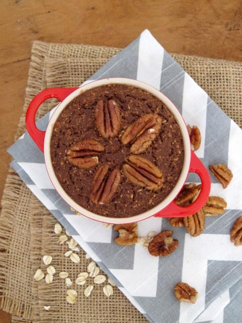 Chocolate Pecan Baked Oatmeal - Oatmeal Artist